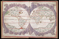 Map of the World in Two Hemispheres   f. 2